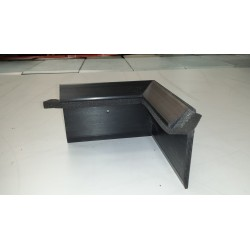 Single Ply Roofing Black Kerb Trim Corner