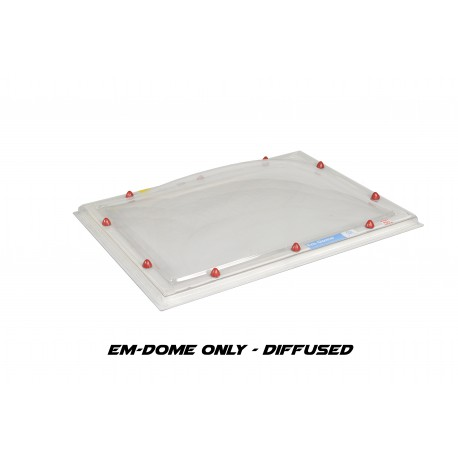 Em-Dome Rectangle Roof Light Polycarbonate/Acrylic/Polycarbonate Tripple Skin - 800mm x 1400mm
