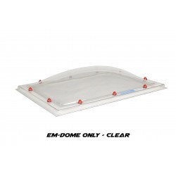Em-Dome Rectangle Roof Light Polycarbonate/Acrylic/Polycarbonate Tripple Skin - 1200mm x 2400mm