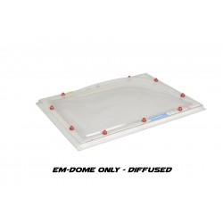 Em-Dome Rectangle Roof Light Polycarbonate Double Skin - 700mm x 1000mm