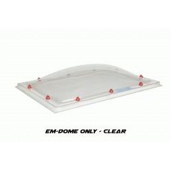 Em-Dome Rectangle Roof Light Polycarbonate Single Skin - 1200mm x 2400mm