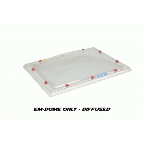 Em-Dome Rectangle Roof Light Polycarbonate Single Skin - 1100mm x 1700mm