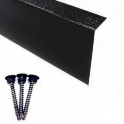 Metal Wall Trim for Rubber Roofing 25mm x 50mm x 3M